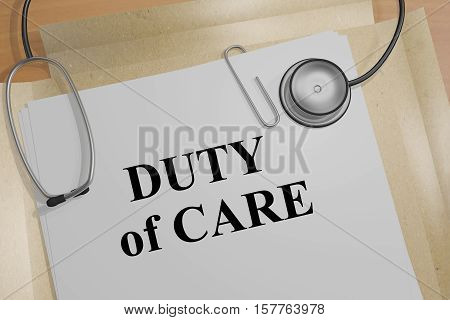 Duty Of Care - Medical Concept