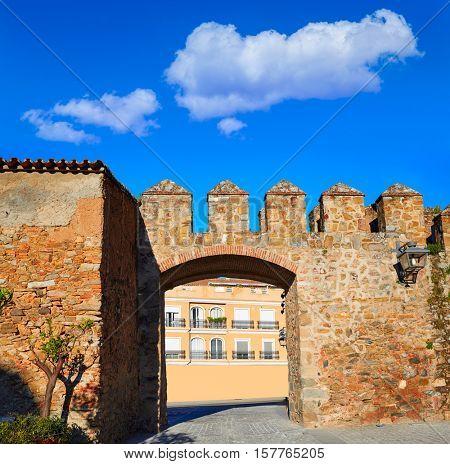 Alcazar de Zafra in Extremadura of Spain by the Via de la Plata way