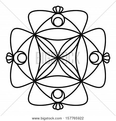 Simple Mandala Flower Vector Photo Free Trial Bigstock