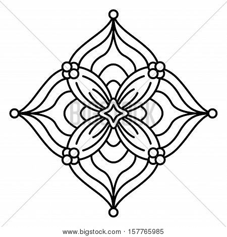 simple mandala flower vector photo free trial bigstock. Black Bedroom Furniture Sets. Home Design Ideas
