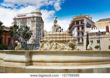 Seville Puerta Jerez fountain in Andalusia Sevilla spain