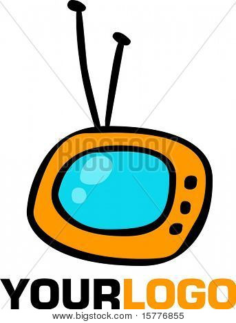 logo and icon of TV, vector web 2.0