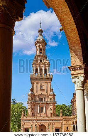 Seville Sevilla Plaza de Espana Andalusia Spain square