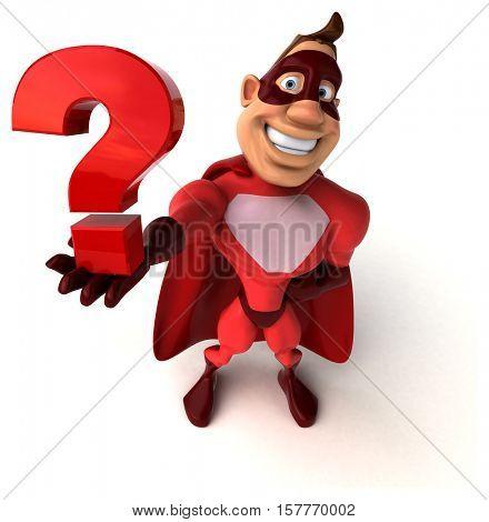 Fun superhero - 3D Illustration