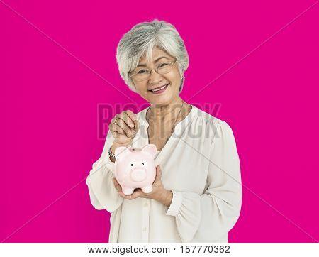 Asian Woman Cheerful Portrait Concept