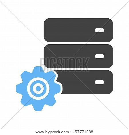 Configuration, database, internet icon vector image. Can also be used for software development. Suitable for mobile apps, web apps and print media.