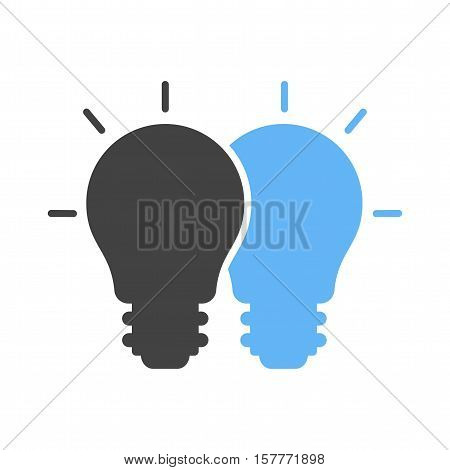 Merging, cooperation, ideas icon vector image. Can also be used for software development. Suitable for use on web apps, mobile apps and print media.