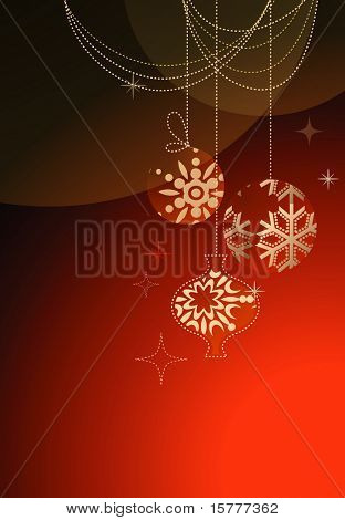 Christmas abstract background, vector design