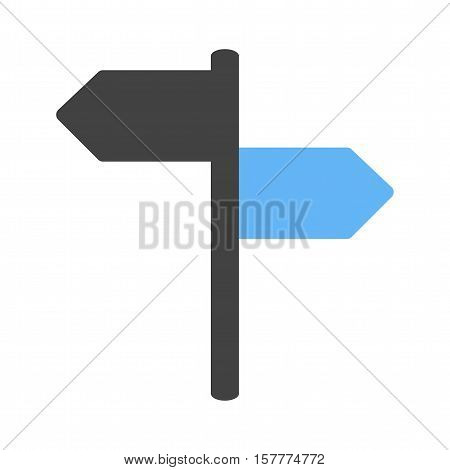 Direction, way, signpost icon vector image. Can also be used for travel. Suitable for use on web apps, mobile apps and print media.