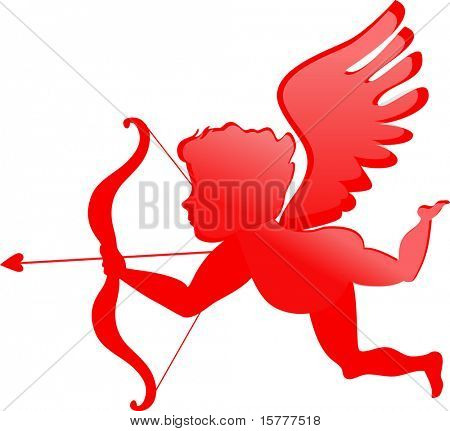 red cupid - Valentines day