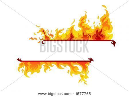 Burning Flame Banner