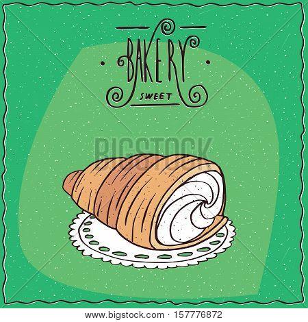 Bread Roll Known As Torpedo Dessert