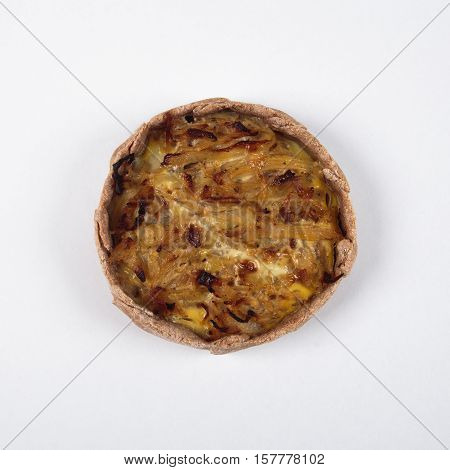 Fresh baked goods in a single copy on a white background.