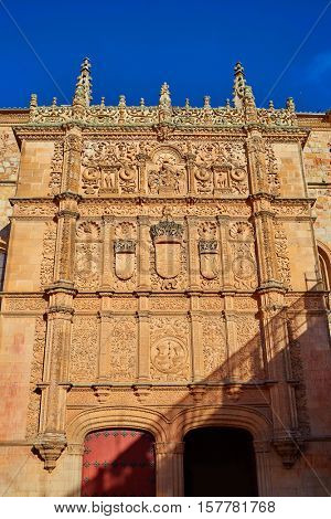 Universidad de Salamanca University facade in Spain
