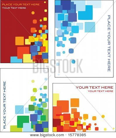 Collection of colorful abstract geometric patterns - perfect for business card and web templates