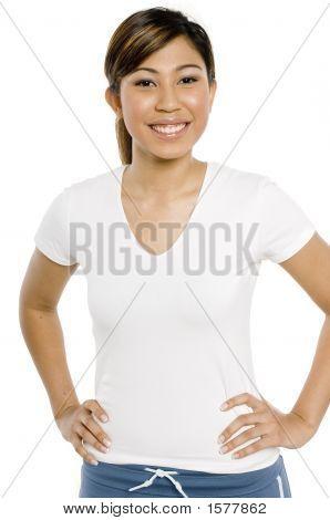 sportliche Mädchen lächelnd