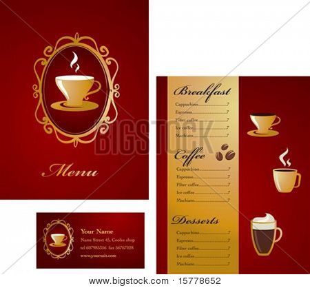 Modern coffee menu template