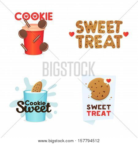 Set confectionery banners, labels, logos. Vector set