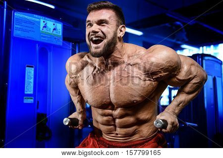 Strong Bodybuilder Man