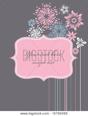 Valentines day greeting card, vector