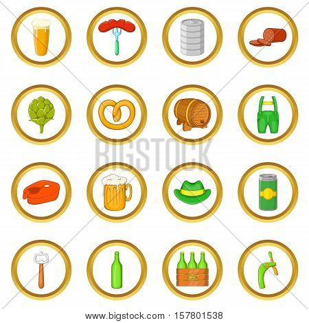 Octoberfest vector set in cartoon style isolated on white background