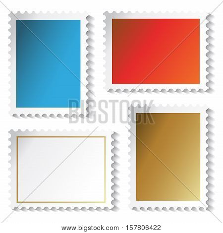 Vector stamps stickers on white background - illustration