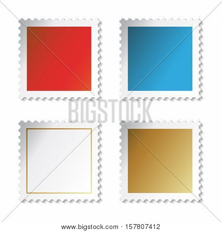 Vector stamp stickers on white background - illustration