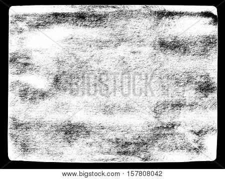 Abstract dirty or aging frame. Dust particle and dust grain texture on white background dirt overlay or screen effect use for grunge background and vintage style.