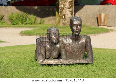 Sculpture in the Austrian town of Strobl