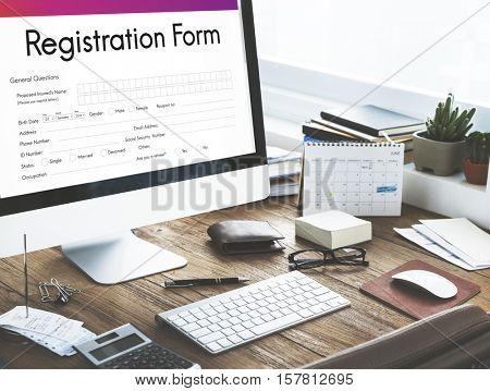 Registration Application Paper Form Concept