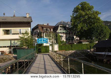 Welcome to the Austrian town of Strobl / The alpine village Strobl in rural Austria