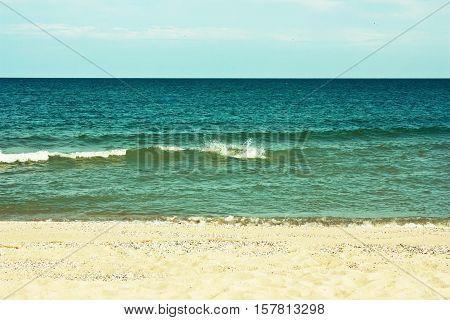 Beautiful Sandy Beach And The Sea