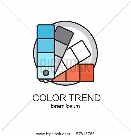 Color palette guide logotype design templates. Modern easy to edit logo template. Vector logo design series.