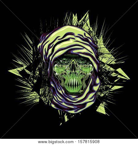 Robotic Skull with Head Scarf Dakar Adventure Cyborg Machine