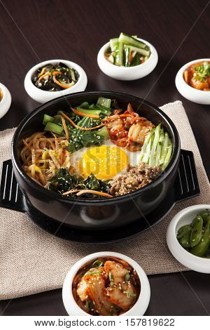 Bibimbap Korean rice, a traditional Korean cuisine