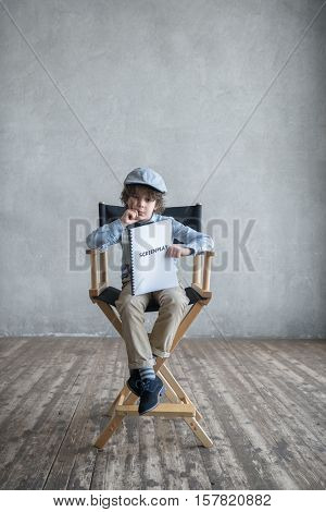 Little director with a screenplay