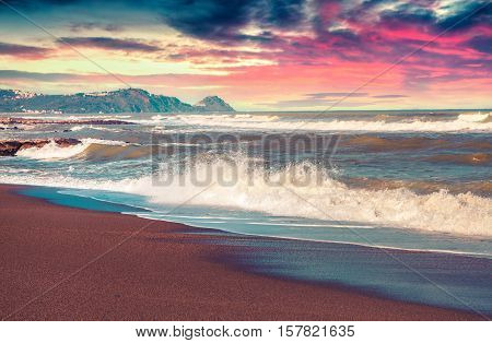 Spring Seascape On The Mediteranean Beach