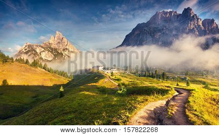 Fantastic Summer Landscape In Dolomite Alps