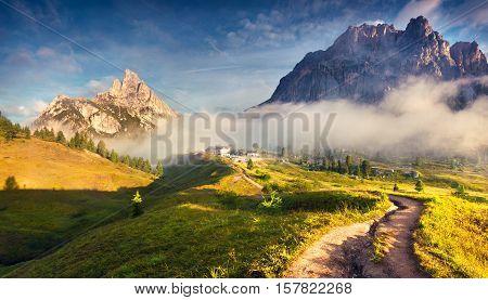 Fantastic Summer Landscape In Dolomite Alps