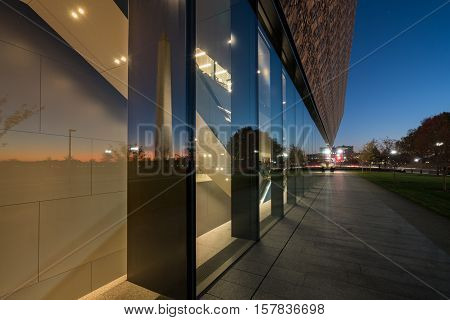 WASHINGTON DC USA - NOVEMBER 18: National Museum of African American History and Culture in Washington DC on November 18 2016. The museum opened on September 24 2016.