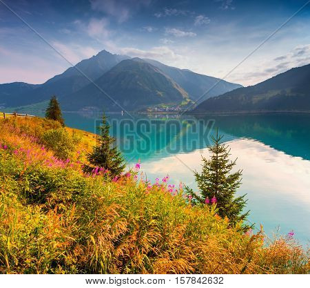 Colorful Summer Morning In The Resia (reschensee) Lake