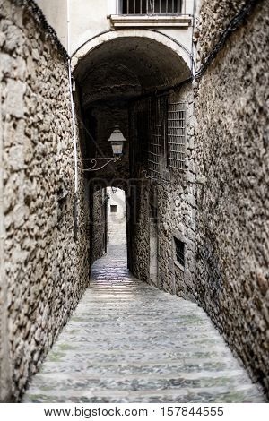 Girona (Gerona Catalunya Spain): old typical street