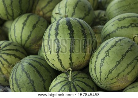 Watermelon have spear shape ant texture of nature.