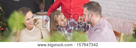 Daughter Joking With Father