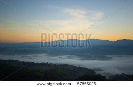 Colorful Sunrise over the mountain hills,Sunrise in mountain,Sunrise landscape