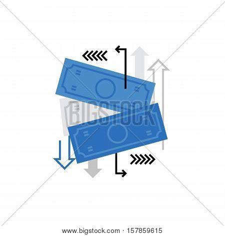 Money Flow Monoflat Icon.