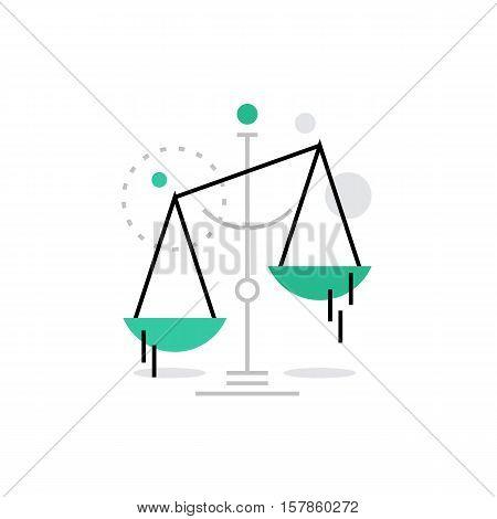 Law Scales Monoflat Icon.