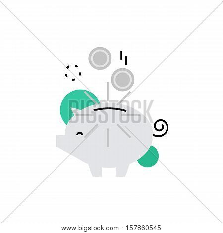 Piggy Bank Monoflat Icon.