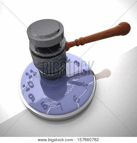 Hammer Smashing A Clock