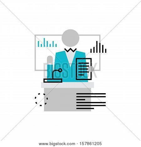 Mentor Speech Monoflat Icon.